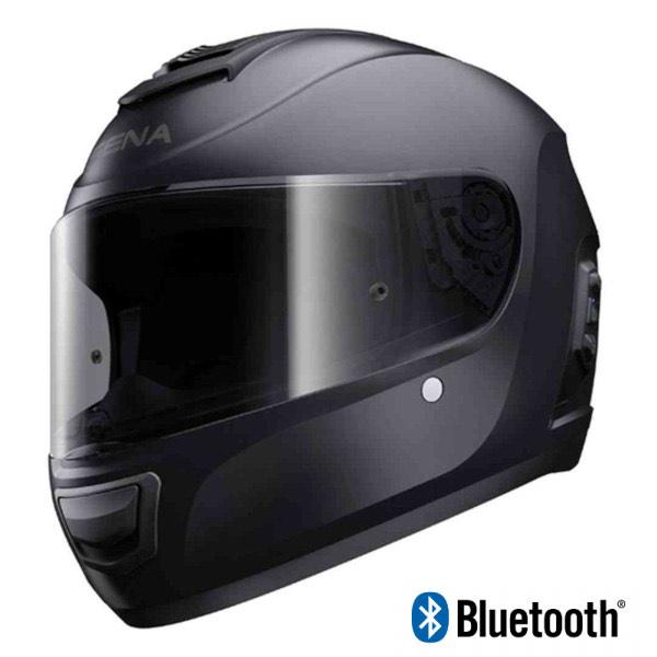 Casque moto intégral Sena Momentum Bluetooth - Blanc ou Noir, Tailles au choix