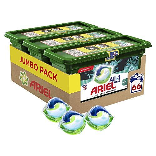 Lot de 3 boites de capsules de lessive Ariel Allin1 Parfum Aérien - 3 x 22 lavages