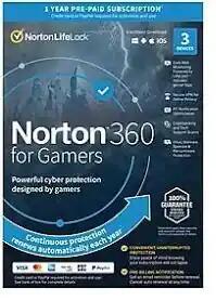 Licence Norton 360 pour Gamers 2021 - 1 an / 3 appareils (Dématérialisé)