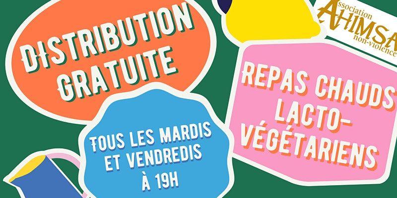Distribution gratuite de repas chauds végétariens (plat + dessert) pour les étudiants de Rouen (76)