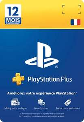 Carte Abonnement PlayStation Plus - 12 Mois