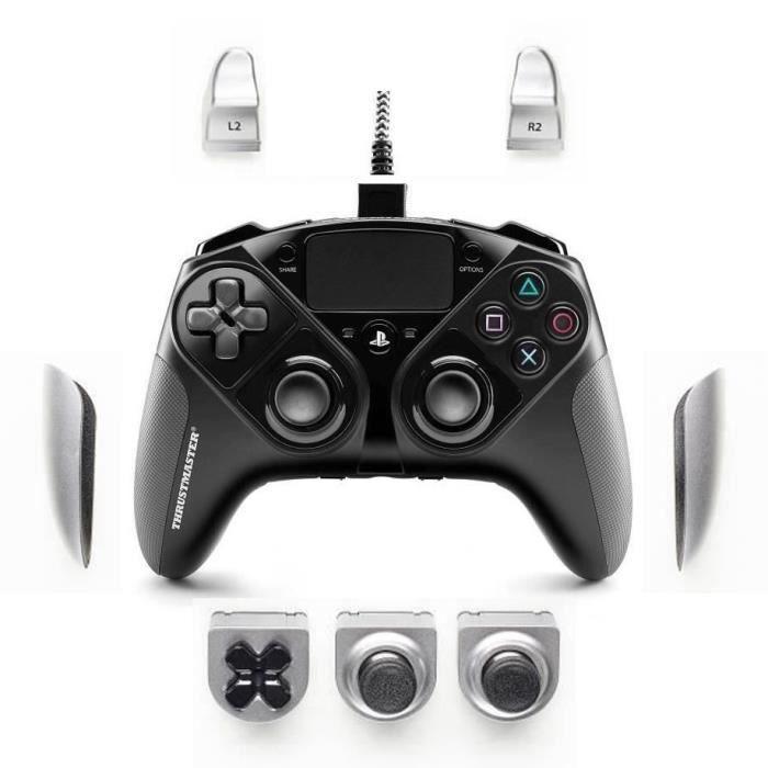 Manette filaire personnalisable Thrustmaster eSwap Pro Controller avec Modules Interchangeables Argent pour PS4