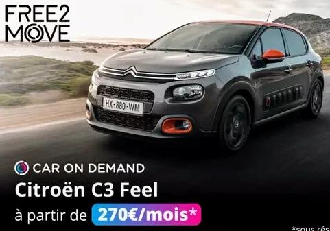 """Bon d'achat d'une valeur de 200€ de réduction sur l'offre """"Car on demand"""" chez Free2Move"""