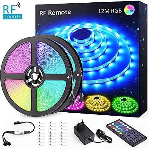 Ruban LED RGB Novostella - 12M (2x 6m), Télécommande, 20 Couleurs et 6 Modes (Vendeur tiers)