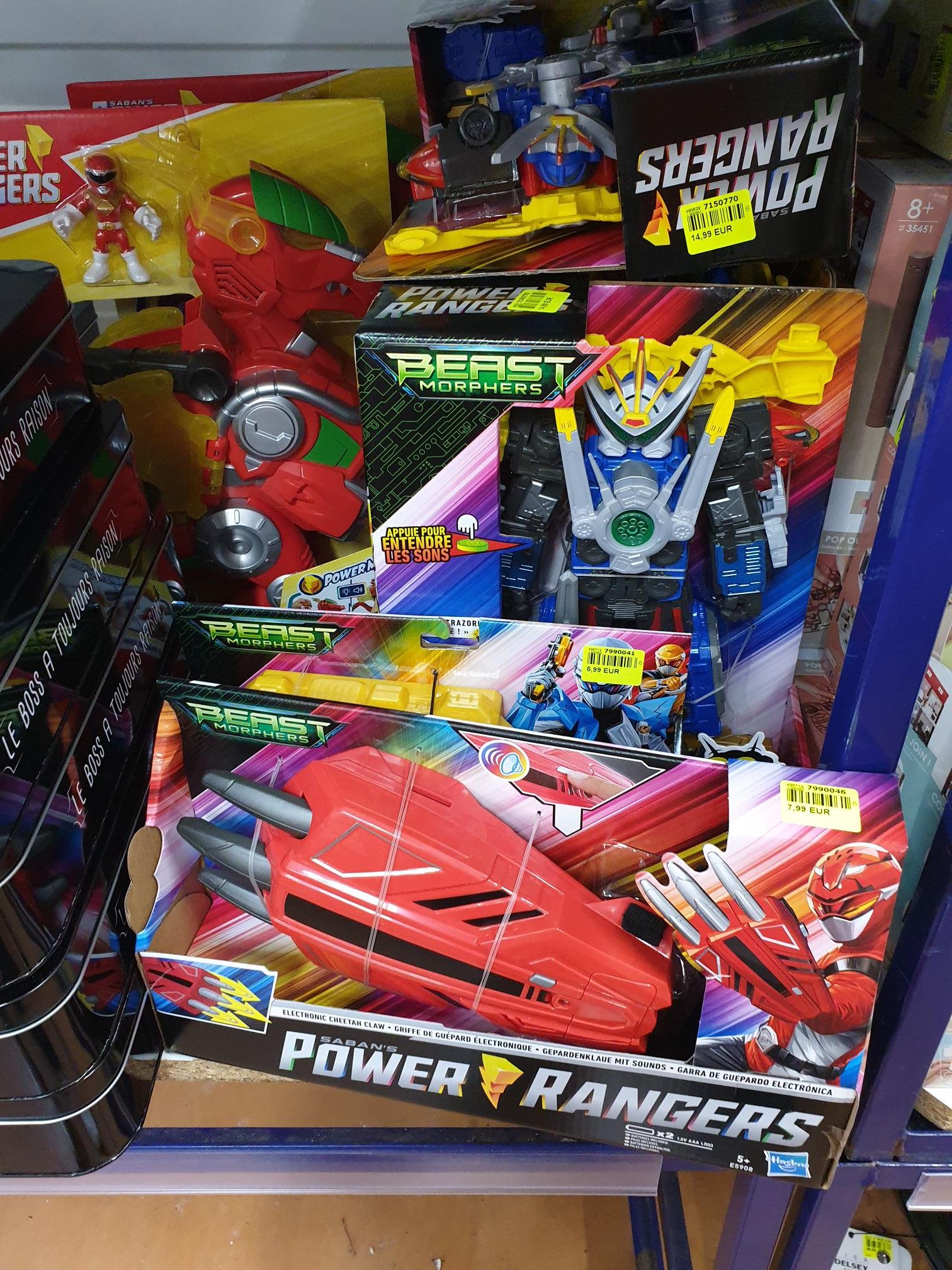 Sélection de jouets Power Rangers Beast Morphers en promotion - Plougastel-Daoulas (29)