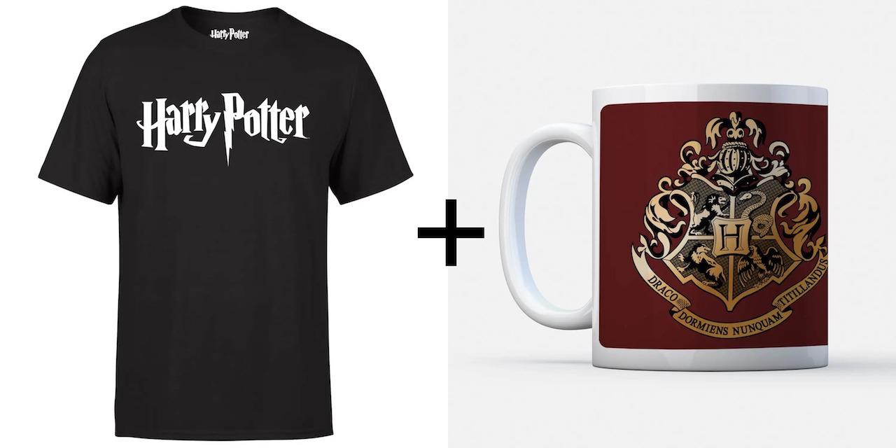 1 t-shirt Harry Potter pour Homme (Tailles du S au 2XL) + 1 mug