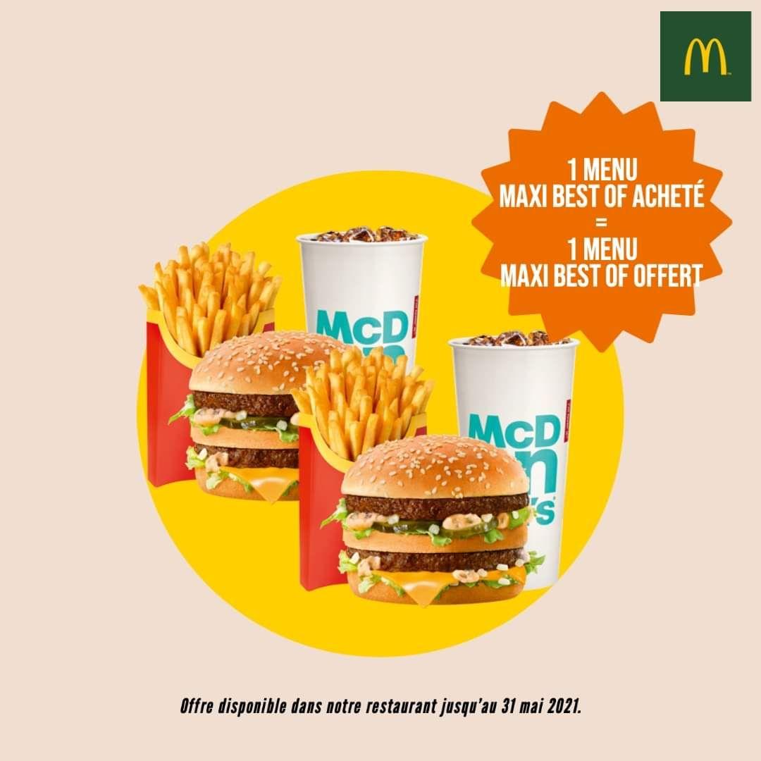 1 menu Maxi Best Of acheté = 1 menu Maxi Best Of offert - Ille-et-Vilaine (35)