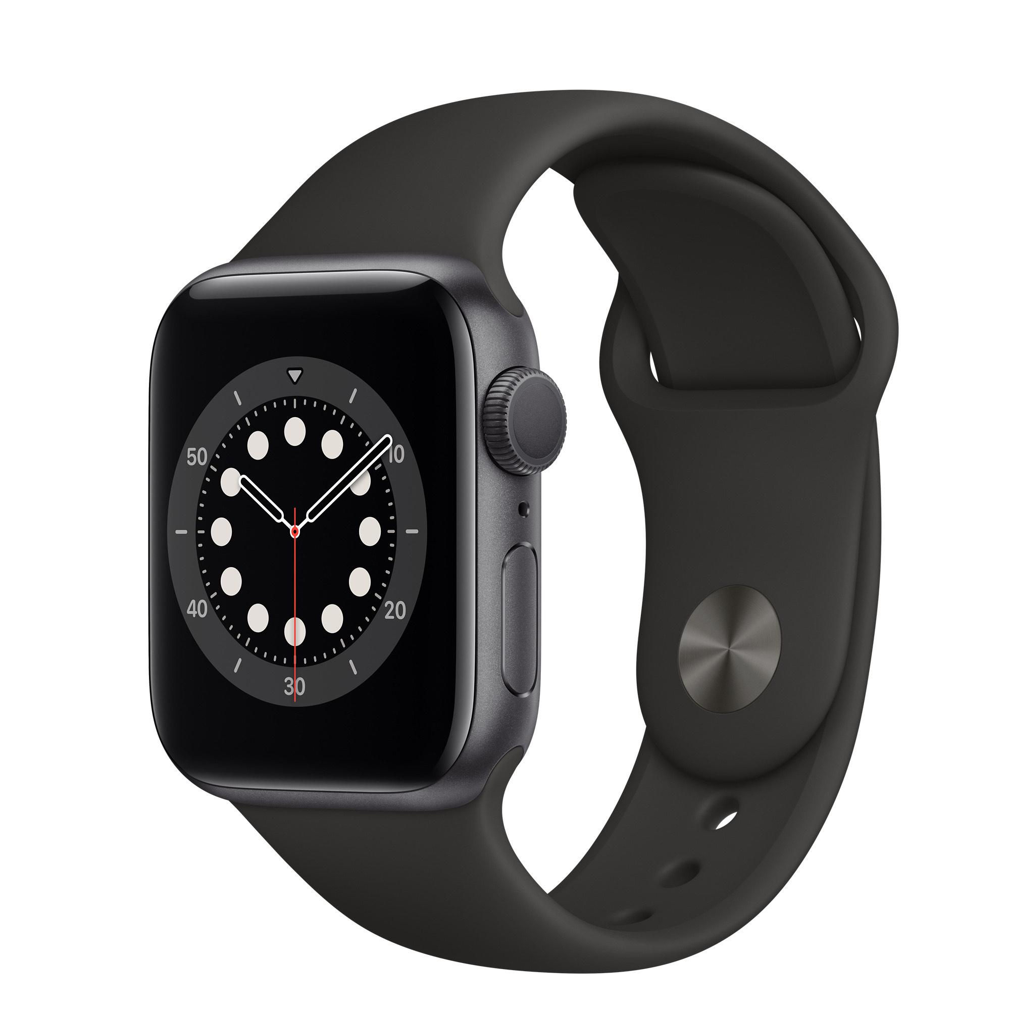 Montre connectée Apple Watch Series 6 (40mm - GPS - Space Grey et Gold/Sandrosa)