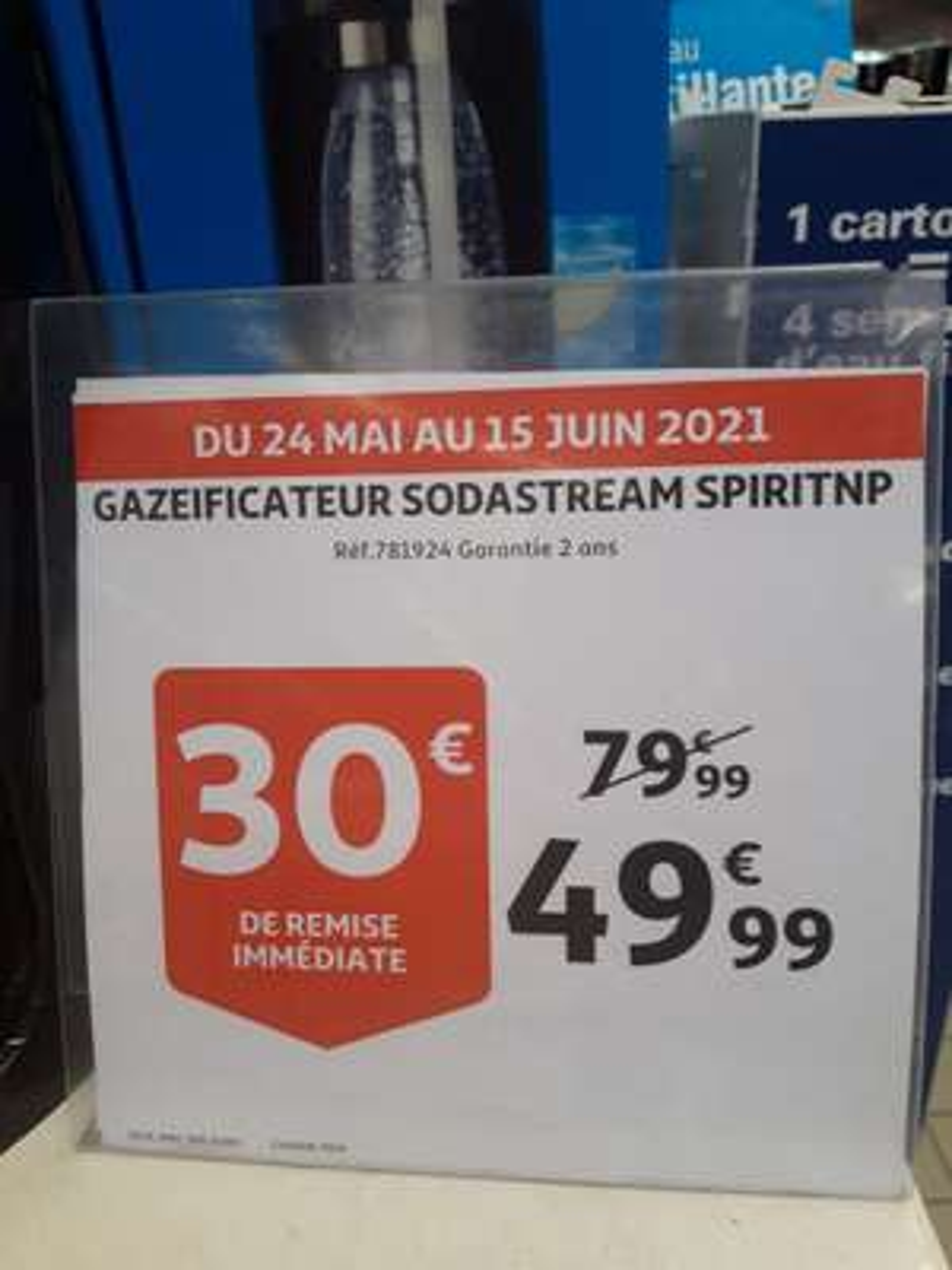 Machine à gazéifier Sodastream Spirit - Saint-Priest (69)