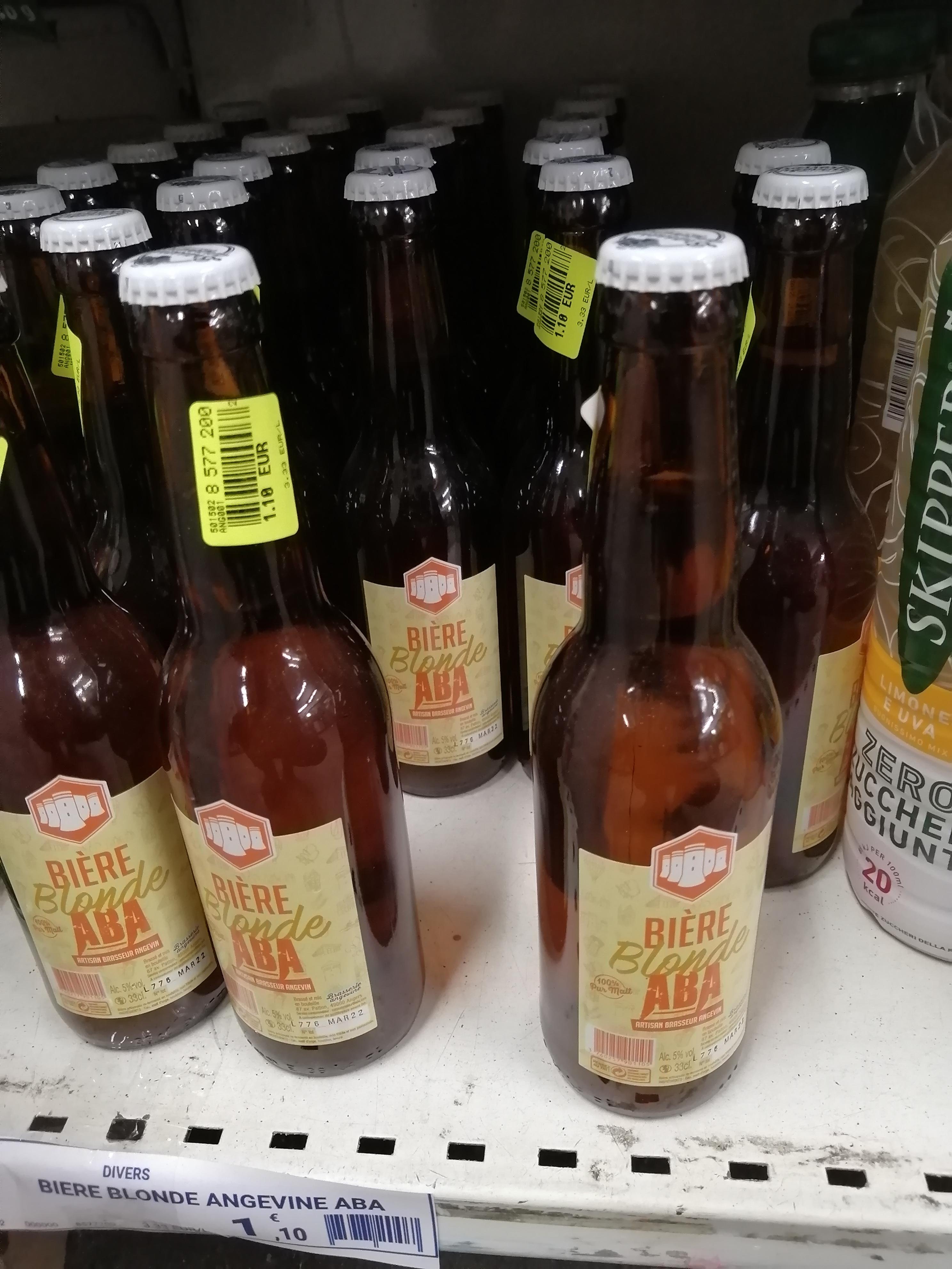Bouteille de bière blonde Aba - 33 cl (Saumur 49)