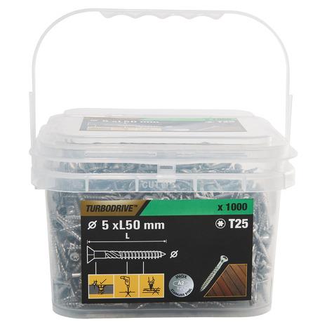 Boîte de 1000 vis de terrasse - 5 x 50 mm ou 5 x 60 mm