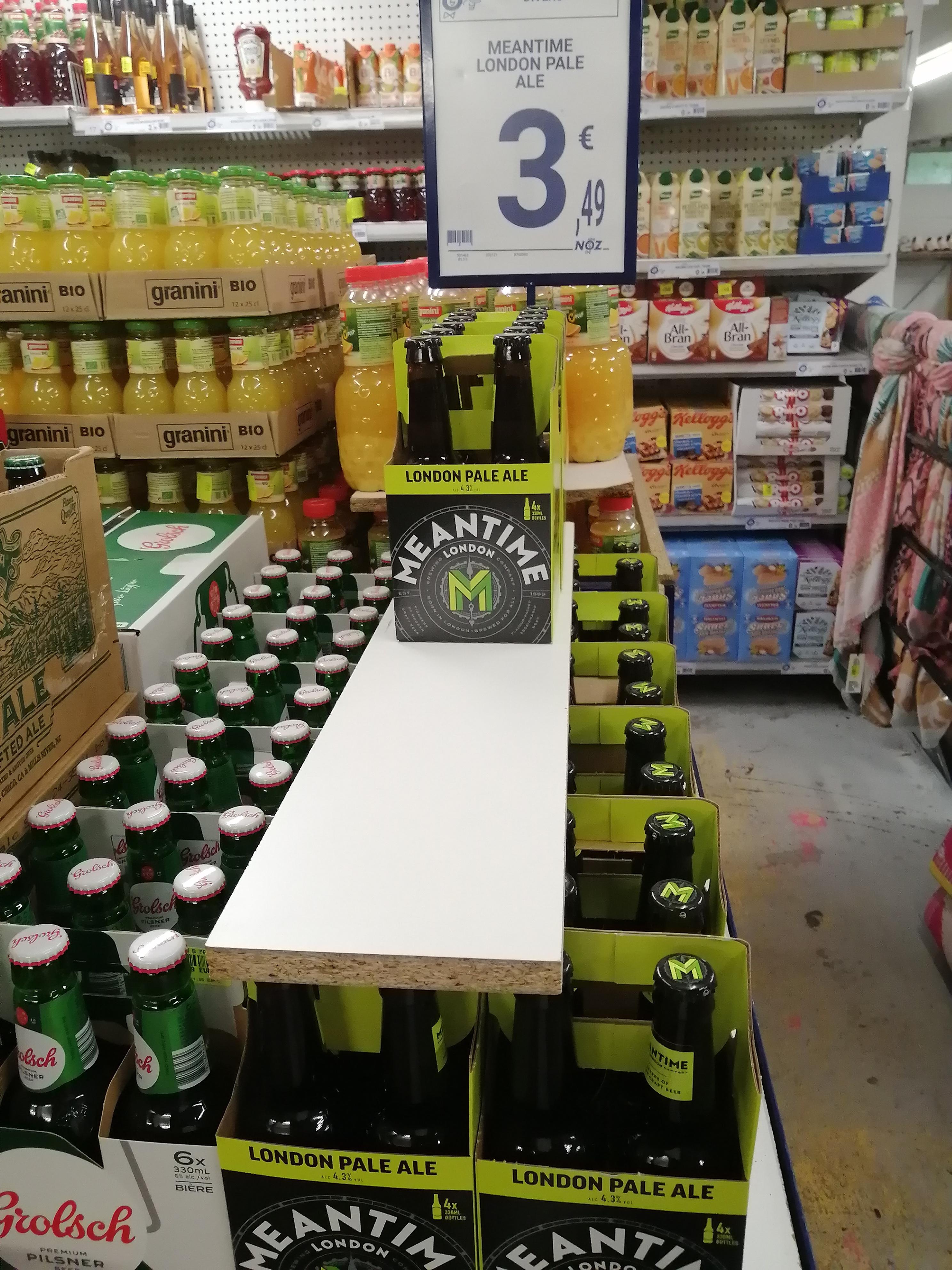 Pack de 4 bouteilles de bière Meantime London - 4 x 33 cl (Saumur 49)