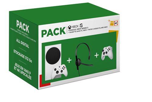 Pack Xbox Series S + 2 manettes Xbox Series White + Micro-casque Microsoft Xbox