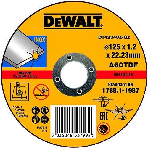 Disque à tronçonner DeWalt 125x 22,2x 1.0mm type 1, dt42340