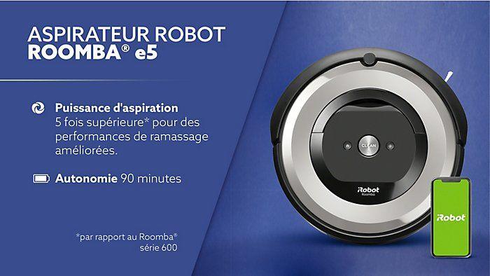 Aspirateur robot connecté iRobot Roomba e5