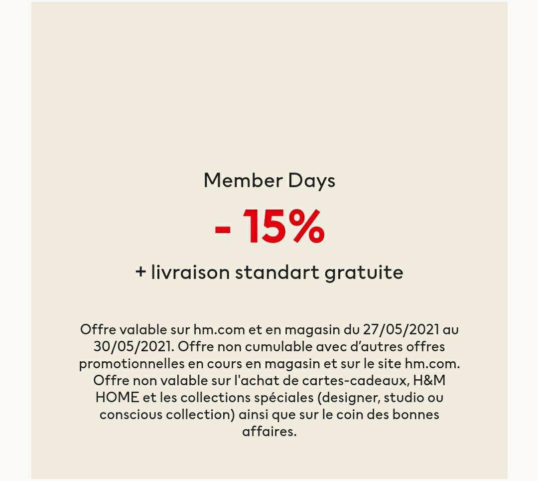 [Membres] 15% de réduction sur tout le site + livraison gratuite (hors exceptions et promotions)