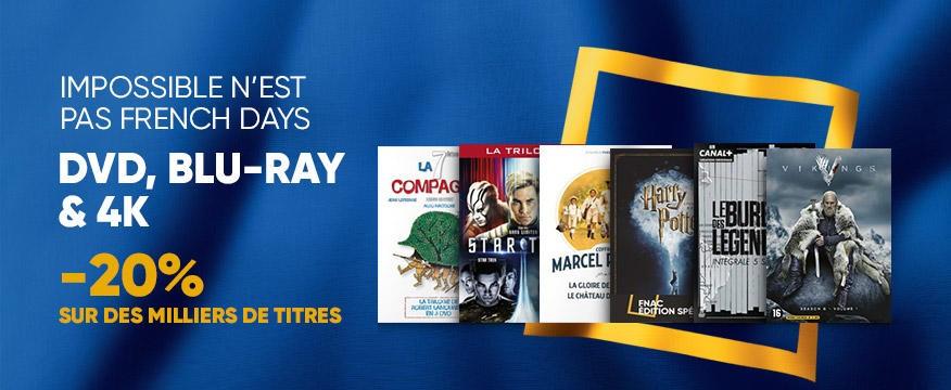 20% de réduction sur une sélection de DVD, Blu-ray & Blu-ray 4K UHD