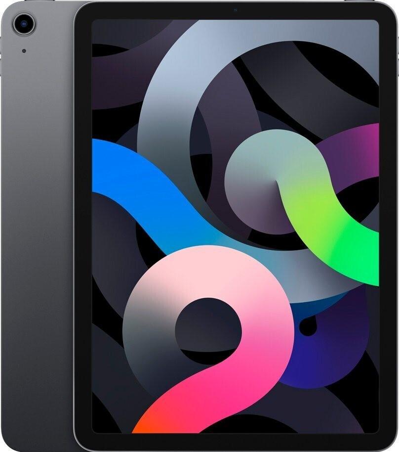 """Tablette tactile 10.9"""" Apple iPad Air 4 - full HD Retina, A14, 4 Go de RAM, 64 Go, gris sidéral (+ 60€ en carte cadeau)"""