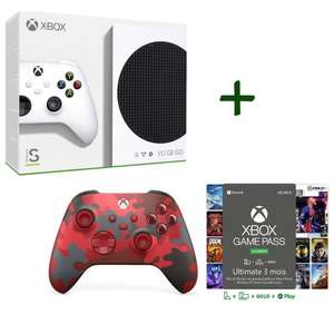 Pack Console Microsoft Xbox Series S + nouvelle manette Daystrike Camo + 3 mois de Game Pass Ultimate
