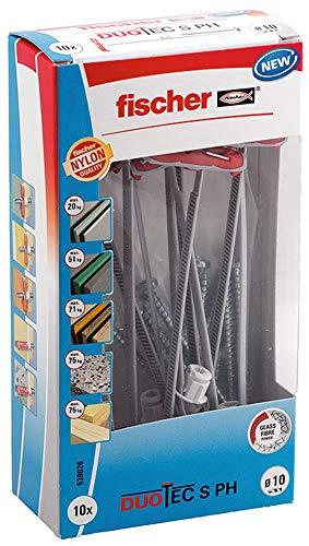 Boîte de 10 chevilles Fischer Duotec avec vis