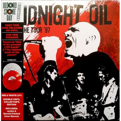 Vinyle Rouge et Blanc Midnight Oil Breathe Tour 1997 - Edition limitée