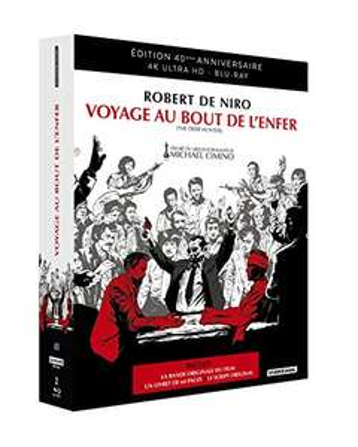 Blu-Ray 4K Voyage au Bout de l'enfer - Édition 40e anniversaire avec Blu-Ray Bonus + CD Bande Originale