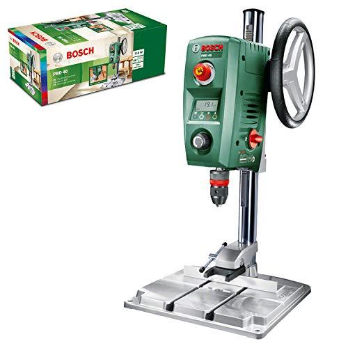 Perceuse à colonne Bosch PBD40 - 710W, avec butée parallèle & pince à serrage rapide