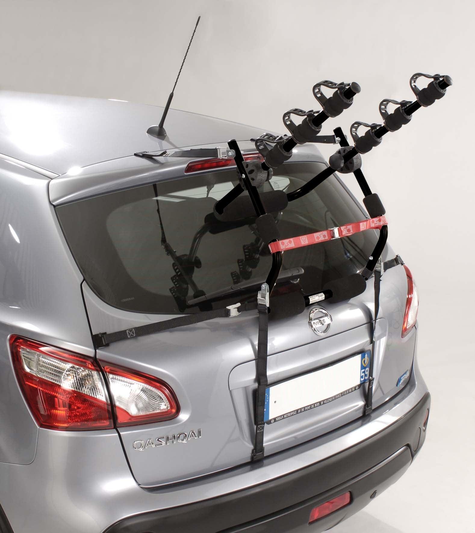 Porte-vélo à sangles pliable pour 3 vélos