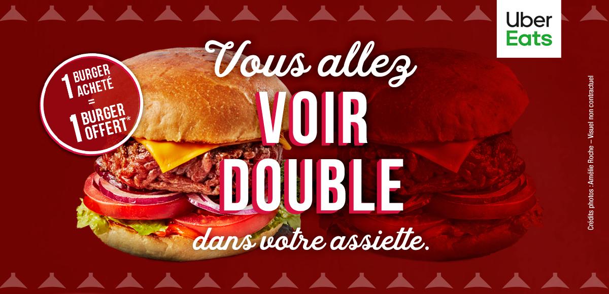 Un Burger Traditionnel identique offert pour l'achat d'un Burger Traditionnel en livraison (via Uber Eats)