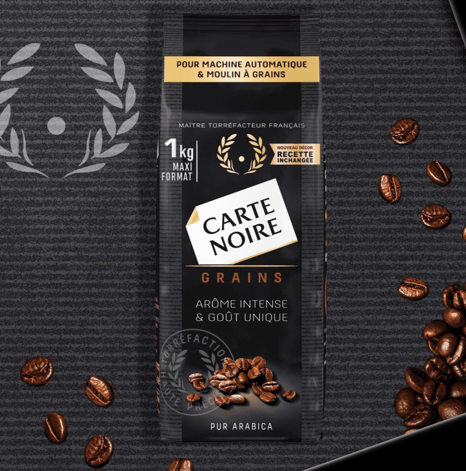 Lot de 2 paquets de Café en grain Carte Noire - 2x 1kg