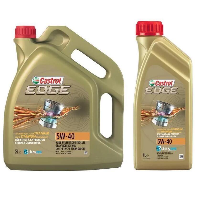 Sélection d'Huiles moteur Castrol en promotion - Ex : Edge 5W-40 (5L + 1L)