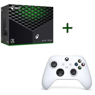 Console Microsoft Xbox Series X + 2ème manette sans-fil Xbox Series - Robot White