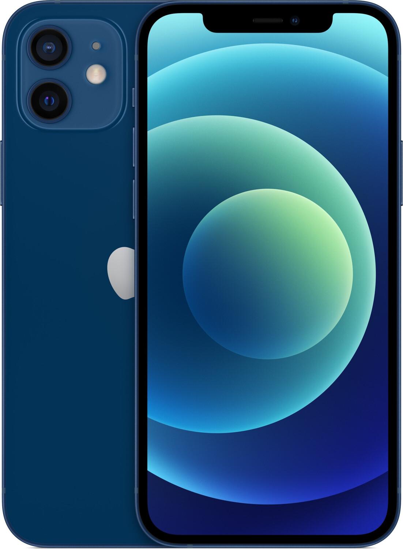 """Smartphone 6.1"""" Apple iPhone 12 - full HD Retina, A14, 4 Go de RAM, 128 Go, bleu"""