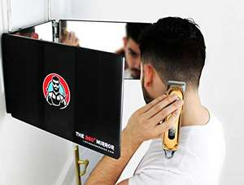 Miroir pliable LipfiBarberShop Selft Cut Mirror - 3 faces, 91x20x3 cm (vendeur tiers)