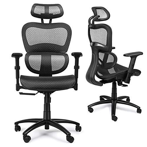 Chaise / Fauteuil de Bureau Ergonomique en Maille Respirante (Vendeur Tiers)