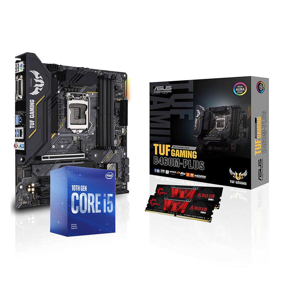 Kit Evo Processeur Intel Core i5 10400F + Carte Mère Asus Tuf Gaming B460M-PLUS + Mémoire G.Skill Aegis DDR4 2 x 8 Go 3200 MHz CAS 16