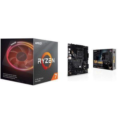 Pack carte mère Tuf Gaming B550-PLUS + Processeur AMD Ryzen 7 3700X