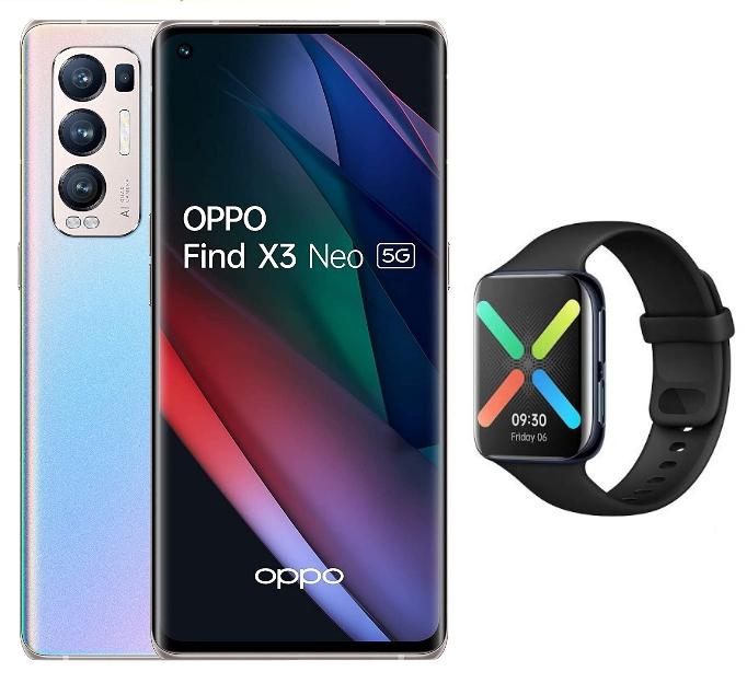 "Smartphone 6.55"" Oppo Find X3 Neo 5G - OLED 90 Hz, 12 Go RAM, 256 Go + Oppo Watch (via 159,80€ sur carte & 74,90€ via ODR) - Savenay (44)"