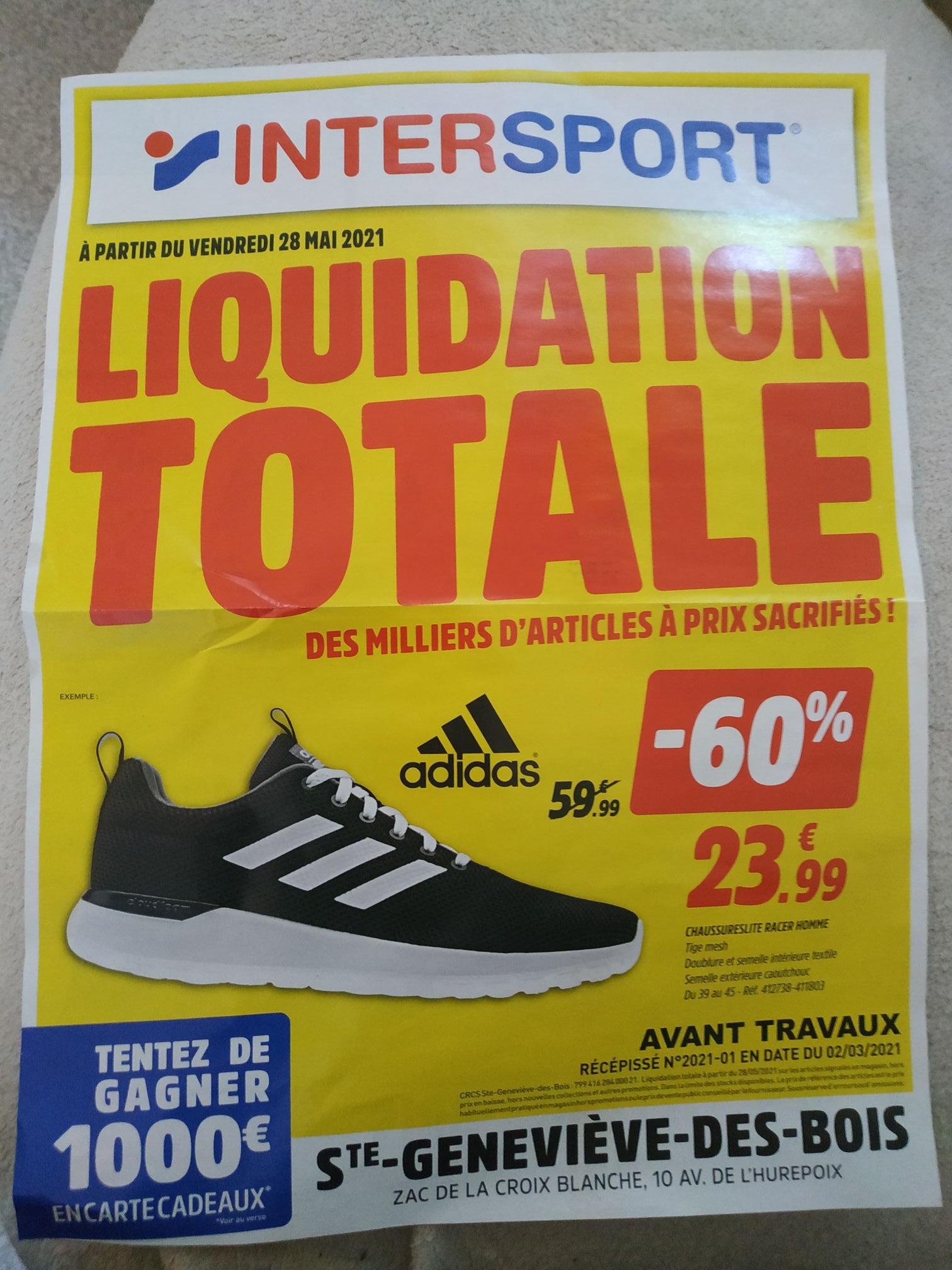 Chaussures Adidas Lite Racer pour Homme (Tailles 39 à 45) - Sainte Geneviève des Bois (91)