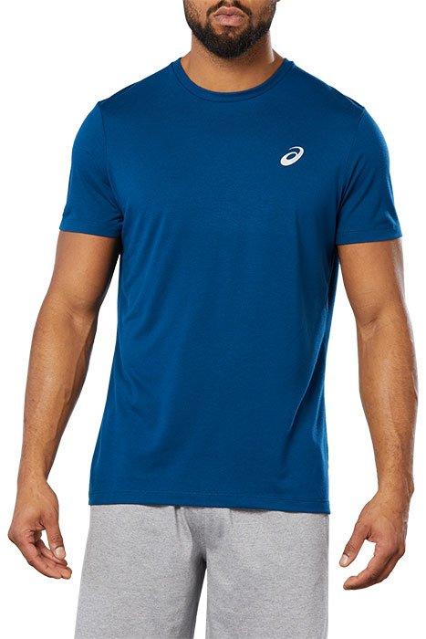 T-Shirt Asics Sport Train Top Mako pour Homme - Blue heather, Tailles S à 2XL
