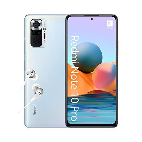 "Smartphone 6.67"" Xiaomi Redmi Note 10 Pro - 64 Go, Bleu Glacier"
