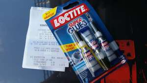Lot de 3 tubes Super Glue-3 Loctite