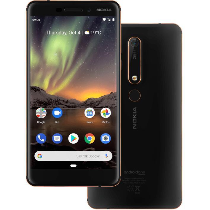 "Smartphone 5.5"" Nokia 6.1 - Full HD, Snapdragon 630, 3 Go de RAM, 32 Go, 4G B20/B28 (Entrepôt France - Vendeur tiers)"