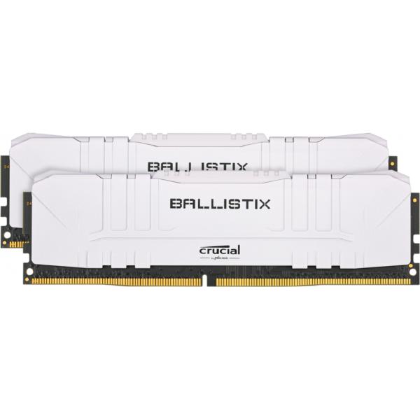 Kit mémoire RAM Crucial Ballistix White - 16 Go (2x 8 Go), DDR4, 3000 MHz, CL15