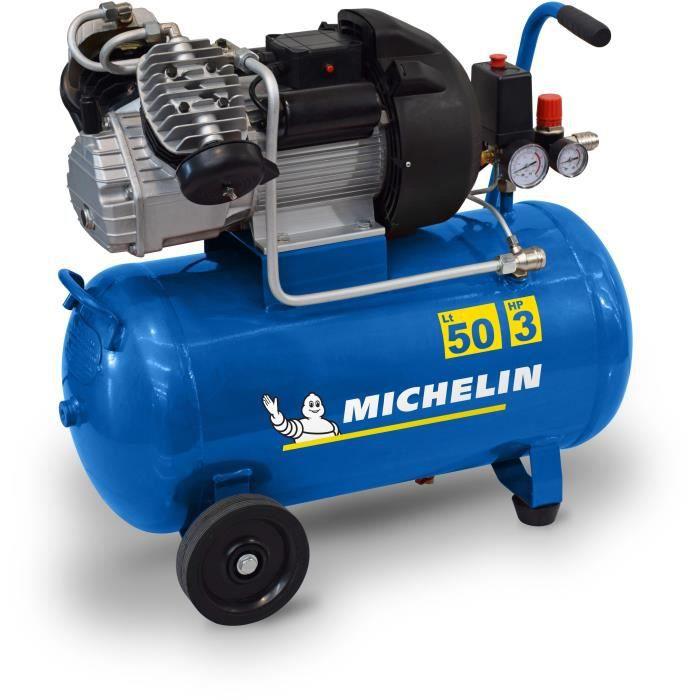Compresseur Michelin MB3650 - 50L, 3CV, 10 bars (240 L/min à 7 bars)