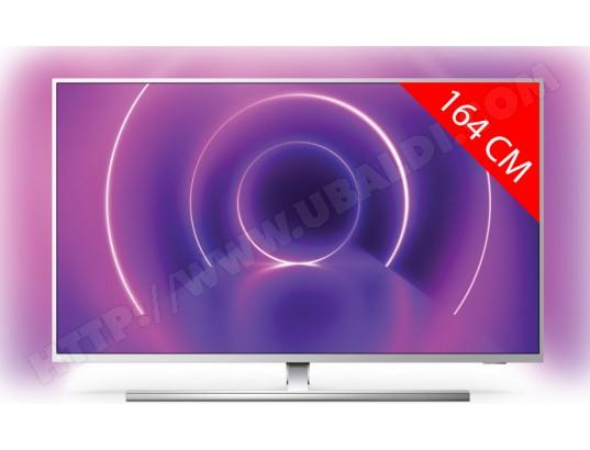 """TV 65"""" Philips 65PUS8545 - 4K UHD, HDR 10+, Dolby Vision, Ambilight, Android TV (+70€ sur le compte pour les adhérents)"""
