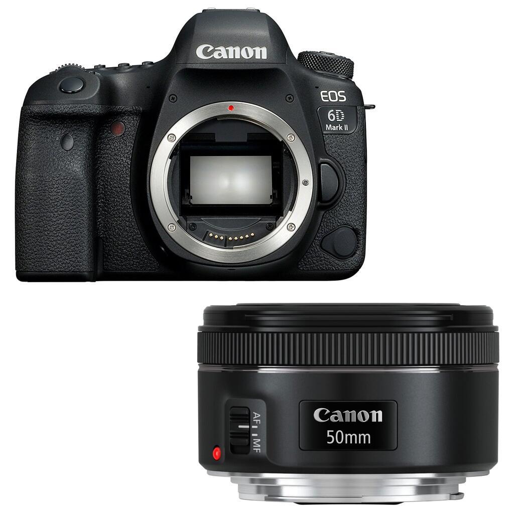 Appareil photo Reflex Canon EOS 6D Mark II + Objectif Canon EF 50mm f/1.8 STM (+ 120€ sur la carte pour les Adhérents)