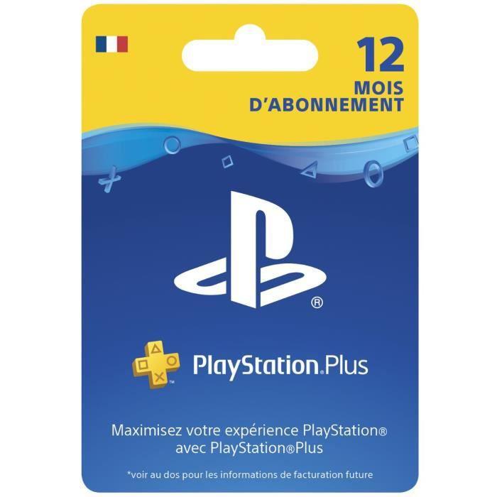 Abonnement de 12 mois au PlayStation Plus ou PlayStation Now (Dématérialisé)