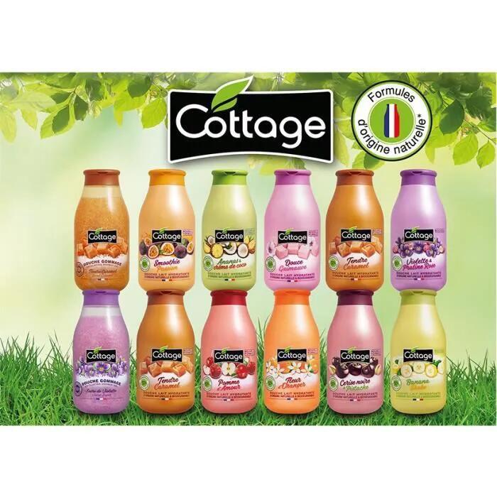 12 Gels douche Cottage - 12 x 250 ml, panaché