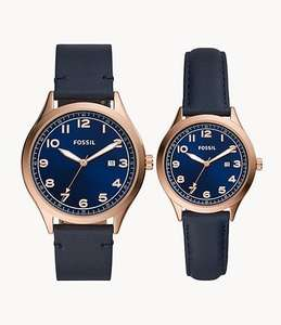 Coffret Montres homme + femme fossil Wylie